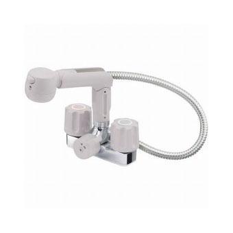 サンエイ(三栄水栓)ツーバルブスプレー混合栓(洗髪用)寒冷地用洗面所用K3104K-LH