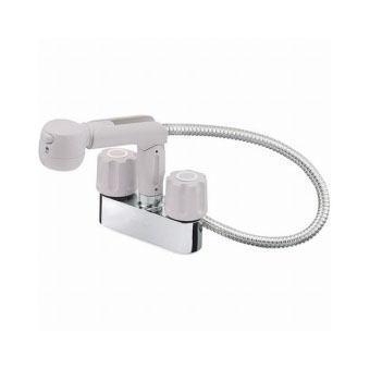 サンエイ(三栄水栓)ツーバルブスプレー混合栓(洗髪用)洗面所用K31V-LH