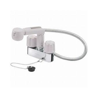 サンエイ(三栄水栓)ツーバルブスプレー混合栓(洗髪用)洗面所用K31VR-LH
