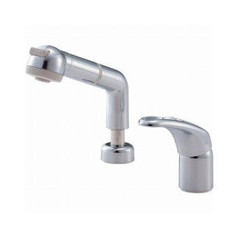 サンエイ(三栄水栓)シングルスプレー混合栓(洗髪用)寒冷地用洗面所用K3761JK-C