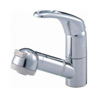 サンエイ(三栄水栓)シングルスプレー混合栓(洗髪用)洗面所用K3763JV-C