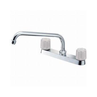 サンエイ(三栄水栓)ツーバルブ台付混合栓寒冷地用キッチン用K611K-LH