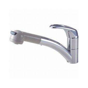 サンエイ(三栄水栓)シングルワンホールスプレー混合栓キッチン用K8760V