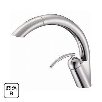 サンエイ(三栄水栓)シングルワンホールスプレー混合栓寒冷地用キッチン用K8790JK