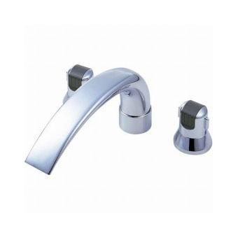 サンエイ(三栄水栓)ツーバルブデッキ混合栓(ユニット用)バスルーム用K9160C-L