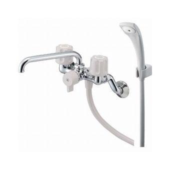 サンエイ(三栄水栓)ツーバルブシャワー混合栓 寒冷地用バスルーム用SK21K-LH