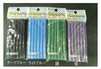 <title>工作から身の回りの補修に ホットグルーガン用グルースティック ダークブルー ライトブルー 緑 紫 Bセット 供え</title>