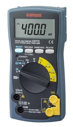 サンワ(SANWA)デジタルマルチメータ(真の実効値対応) CD772