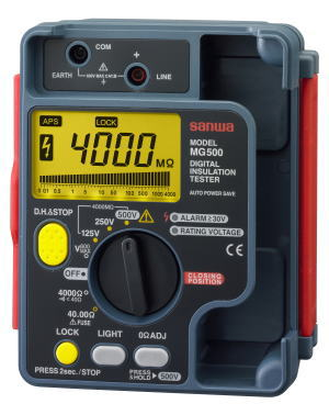 サンワ(SANWA)絶縁抵抗計新JIS対応/デジタルMG500