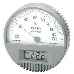 SATO(佐藤計量器)ハイエストII型湿度計(温度計付)7542-00