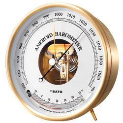 SATO(佐藤計量器)アネロイド気圧計(温度計付)7610-20