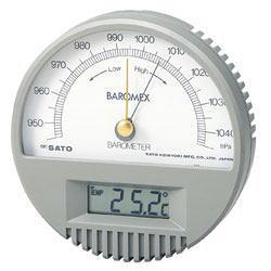 SATO(佐藤計量器)バロメックス気圧計(温度計付)7612-00