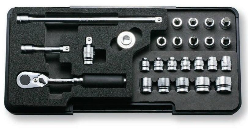 Ko-ken(コーケン) Z-EAL 1/4(6.35mm)ソケットレンチセット 26個組 P2285Z