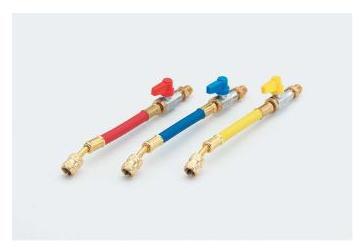 TASCO(タスコ)R22、R12、R502 バルブ付ホースアダプター 赤・青・黄 3本セット TA131V
