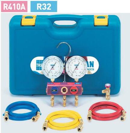 TASCO(タスコ)R410A、R32マニホールドセット 92cm(チャージバルブ付)TA15EC