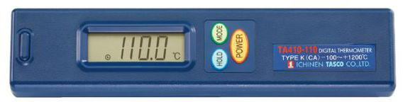 TASCO(タスコ)デジタル温度計本体KタイプTASCOプラグ(ケース付) TA410-110