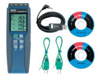 TASCO(タスコ)4chデジタル温度計Kタイプ ミニオメガプラグ式TA410WC