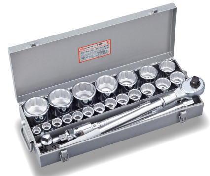 オリジナル トネ(TONE)19.0(3/4)ソケットレンチセット230M:工具のお店 モンジュSHOP-DIY・工具