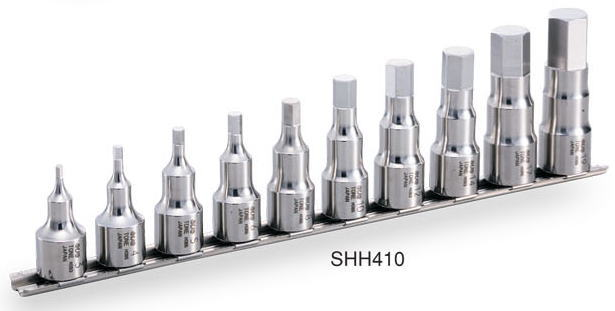トネ(TONE)SUS(ステンレス)ヘキサゴンソケットセット(ホルダー付)SHH410