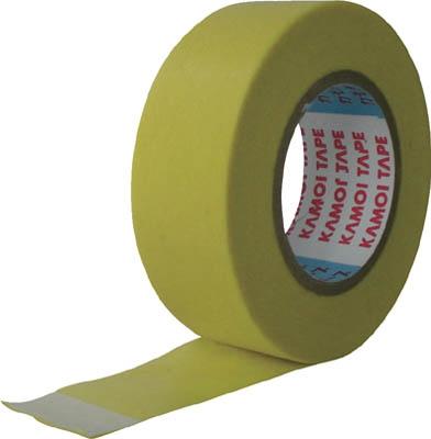カモ井 シリコーンテープ シリコーンコーティング面用 18mm幅×18m長×0.08mm厚 イエロー 7巻入