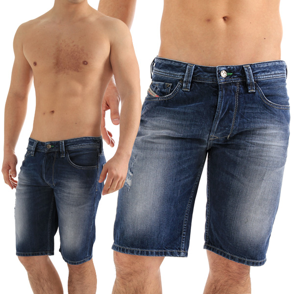 Denim short pants jeans «LARKSHORT: インディゴウォッシュ blue» OFFER TREATMENT JEANS DENIM
