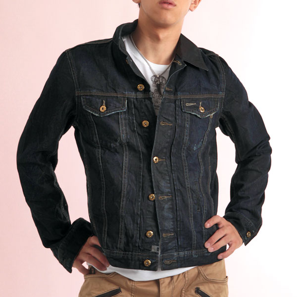 monkey | Rakuten Global Market: Denim jacket denim [ELSHAR: dark ...