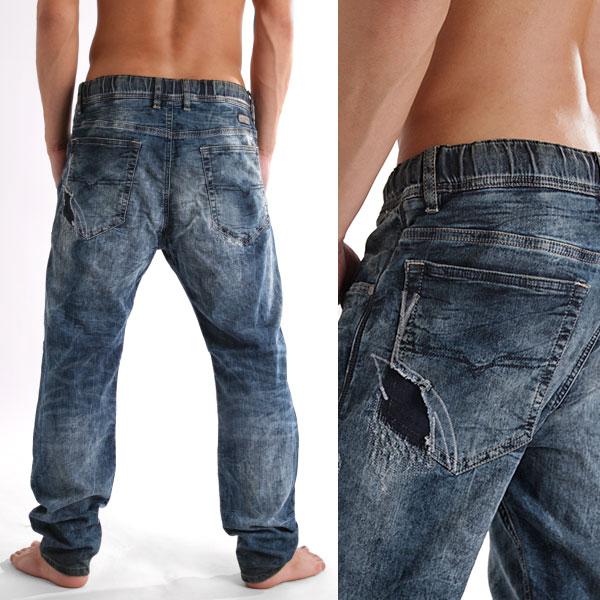 JOGG JEANS jeans jog NARROT-NE «0607 W» the vintage machining (men's denim )