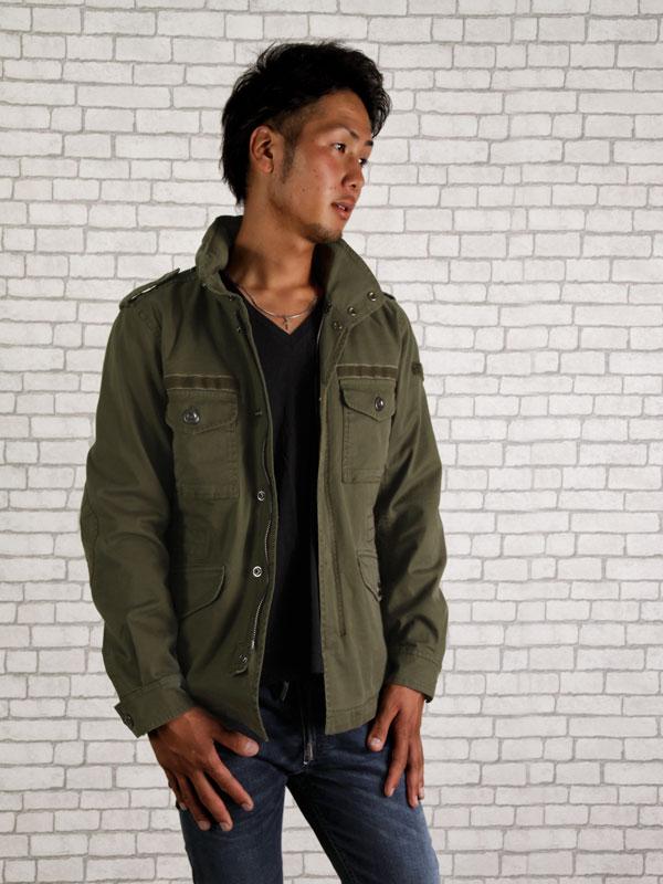 柴油DIESEL军事茄克大衣J-CHIKA军事绿色外衣人男性