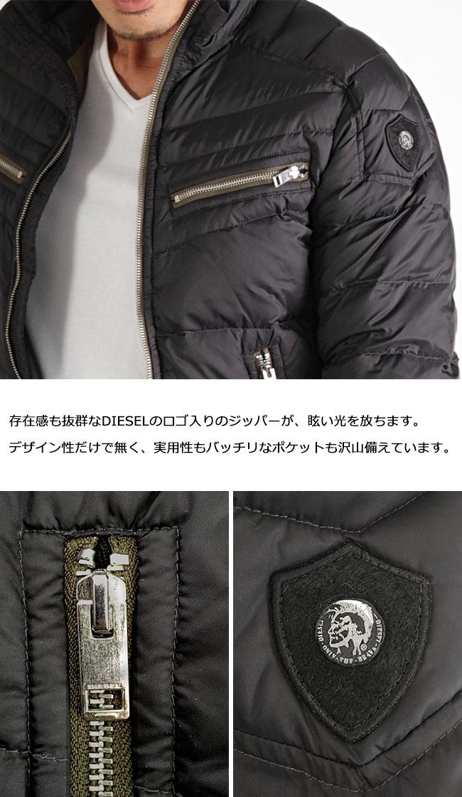 柴油DIESEL羽毛衣W-IZUMO JACKET黑色外衣人男性