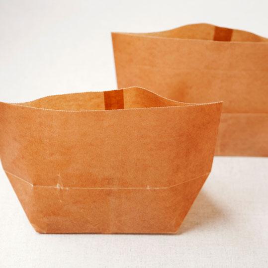 ラッピングに!業務用に!ワックスペーパー 包材 気軽に使えるロー引き袋シリーズ亀底袋(大)200枚セット