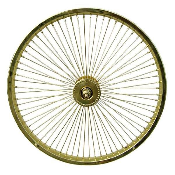 送料無料 72スポーク デイトン フロントホイール ゴールド 20インチ 自転車部品 ローライダー 自転車 パーツ ビーチクルーザー アクセサリー カスタム 部品 改造 BMX MTB GRQ サイクルパーツ Schwinn シュウィン スティングレー スタイル エレクトラ レインボー コンプトン