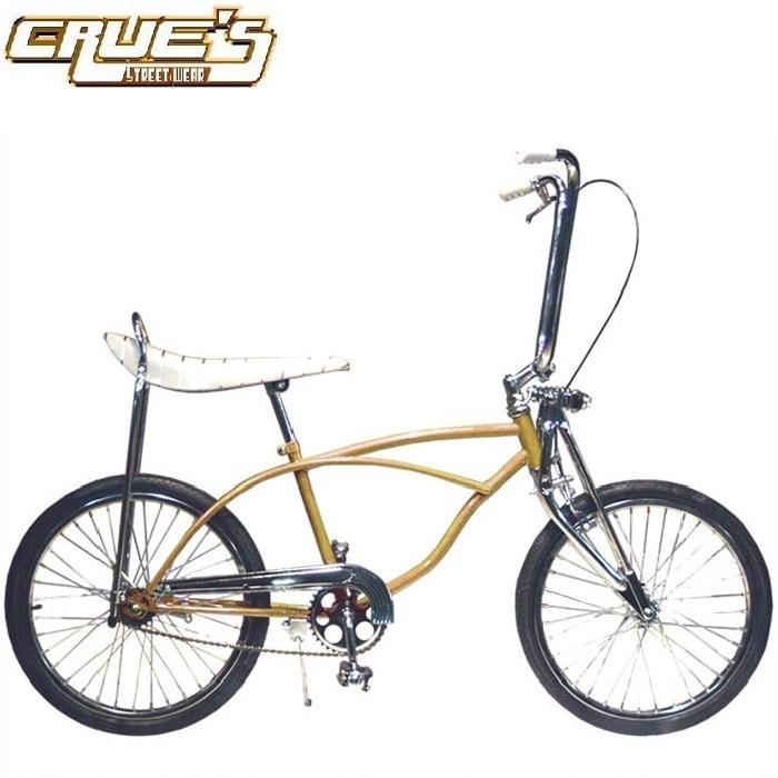 送料無料 クルーズ ローライダー自転車 OG カスタム ゴールド ローチャリ ビンテージ スタイル ビーチクルーザー 20インチ 小径 自転車 改造 Schwinn シュウィン スティングレー エレクトラ レインボー カスタム アメリカン チョッパー BMX MTB GRQ 小径自転車 ミニベロ