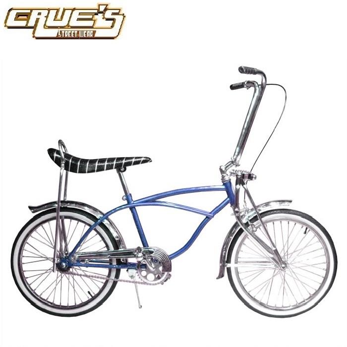 送料無料 クルーズ ローライダー自転車 クラシック カスタム ブルー ローチャリ ビンテージ スタイル ビーチクルーザー 20インチ 自転車 改造 Schwinn シュウィン スティングレー エレクトラ レインボー カスタム アメリカン チョッパー BMX MTB GRQ 小径自転車 ミニベロ