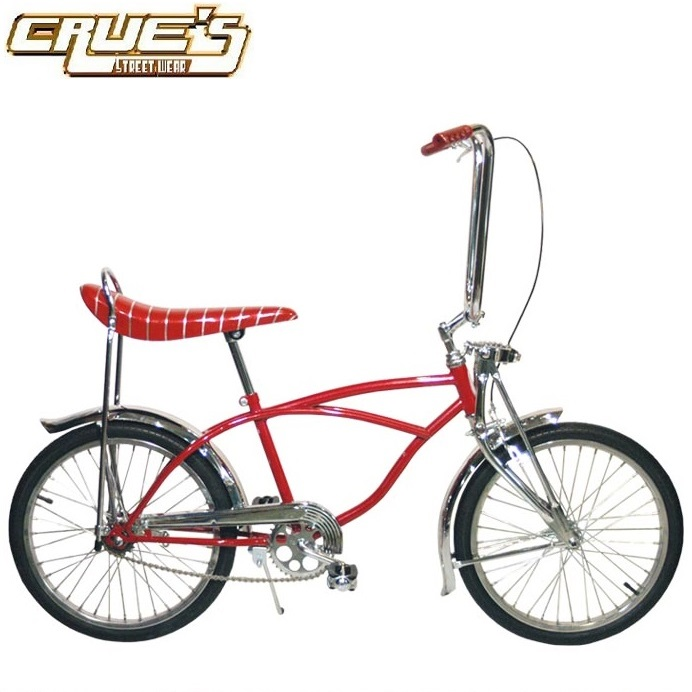 送料無料 クルーズ ローライダー自転車 RED COMETS クラシック カスタム ローチャリ ビンテージ スタイル ビーチクルーザー 20インチ 自転車 改造 Schwinn シュウィン スティングレー エレクトラ レインボー カスタム アメリカン チョッパー BMX MTB GRQ 小径自転車 ミニベロ