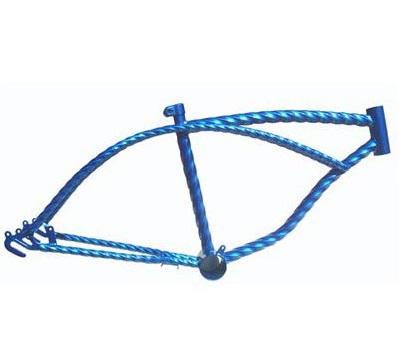 送料無料 ローライダー ツイスト カスタム フレーム ブルー メッキ 自転車部品 ローライダー 自転車 パーツ ローチャリ ビーチクルーザー 部品 改造 BMX MTB GRQ サイクルパーツ ローライダー自転車 Schwinn シュウィン スティングレー エレクトラ レインボー コンプトン