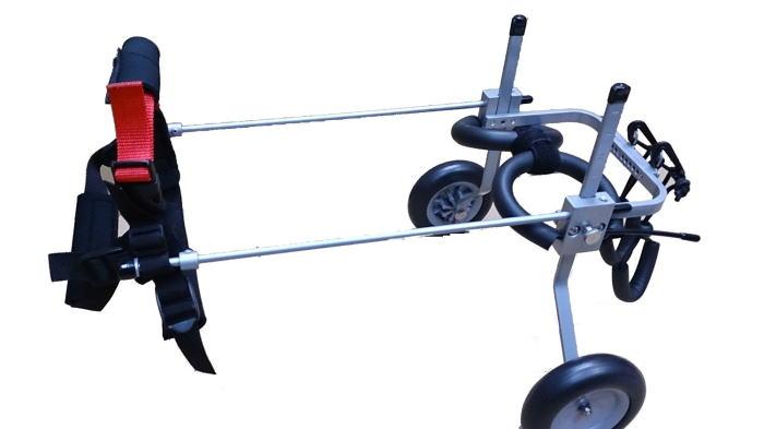 わんちゃん ねこちゃん用車椅子 歩行困難な愛犬 愛猫に自由を!介護 ケガなどのリハビリにも最適! (XS型·2.5kg--7.5kg)