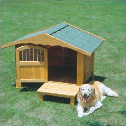 【初回限定お試し価格】 波形屋根がおしゃれでぬくもりがあるロッジ風の犬舎, WebShop of メディング fa859d50