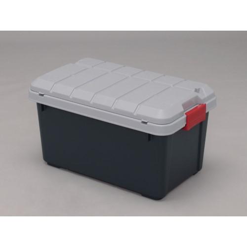 RVBOX収納フタ付 グレー/ダークグリーン 6点セット