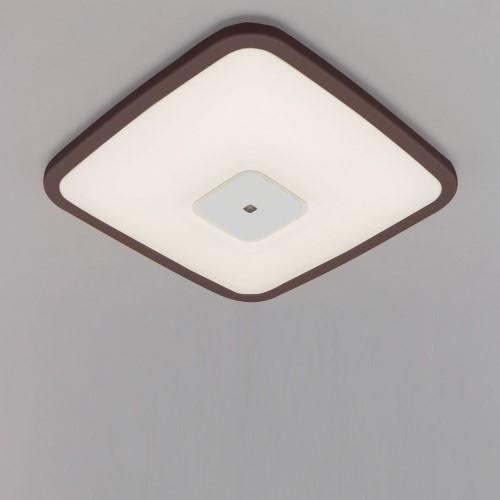 LEDシーリングライト 調光・調色 PP角型 枠有(ダークブラウン) 【単品販売】3200lm調色