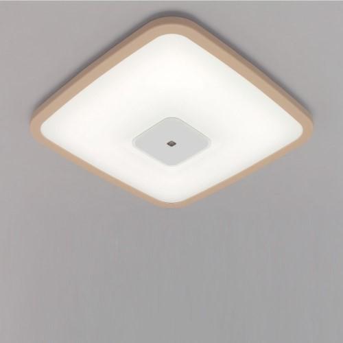 LEDシーリングライト 調光 PP角型 枠有(ブラウン) 【単品販売】3800lm調光