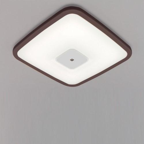 LEDシーリングライト 調光 PP角型 枠有(ダークブラウン) 【単品販売】5000lm調光