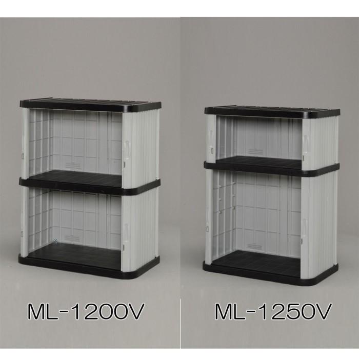 ミニロッカー 【単品販売】ブラック/グレー ML-1250V