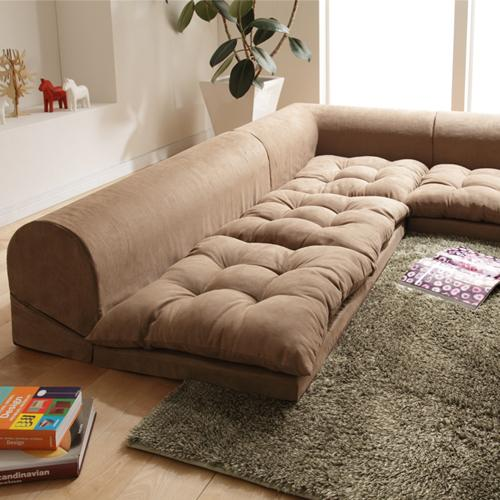 Free Style Low Sofa Relaqua リラクア Floor Living Corner Beige
