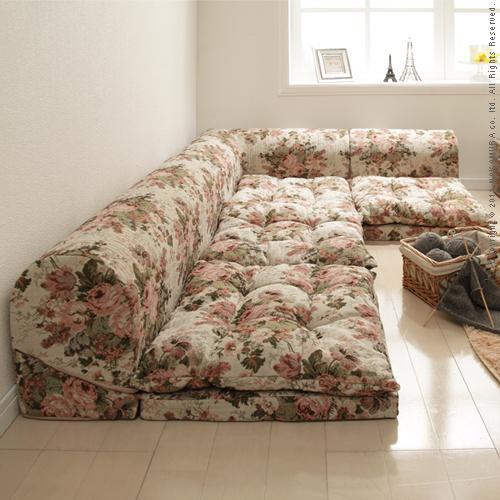 Free Style Low Sofa RelaQua [リラクア] Gobelin Tapestry Pattern Floor Sofa  Living Sofa Corner Sofa