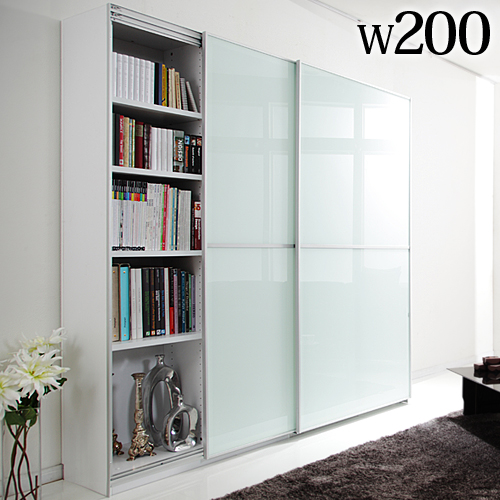 Large Sliding Doors Living Board Salone Width 200 Cm Storage Cabinets Door Sideboard Bookcase Bookshelf Wall Mist