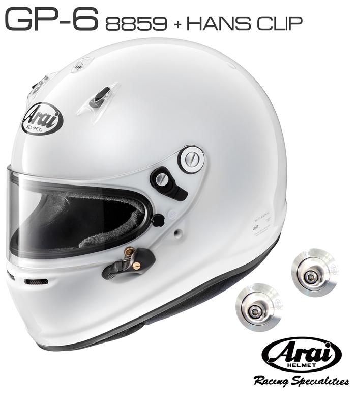 Arai アライ ヘルメット GP-6 8859 HANSクリップ セット SNELL SA FIA8859規格 4輪公式競技対応モデル 通勤 売れ筋商品 税込 音楽会 夏祭り