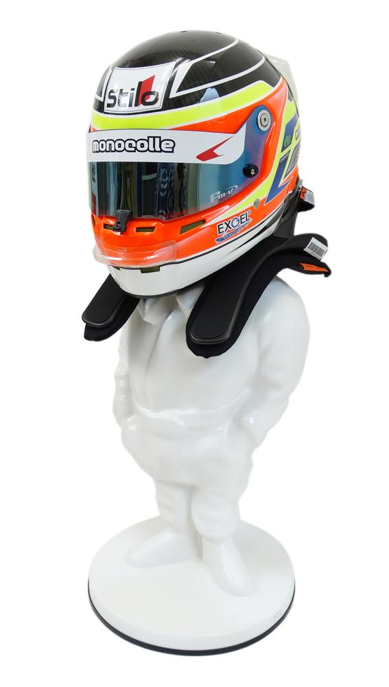 ヘルメット スタンド ディスプレイ人形 無塗装(塗装用 荒仕上げ)