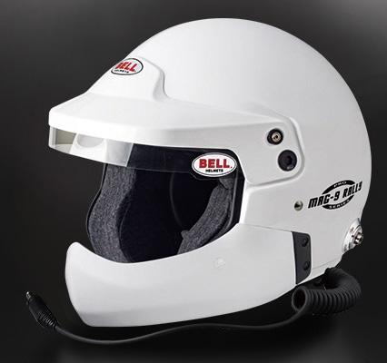 BELL RACING ヘルメット MAG9 RALLY harf chinbar付き ホワイト SNELL SA2015 FIA公認8859-2015 ※本国受注生産モデルに付き納期約3ヶ月以上