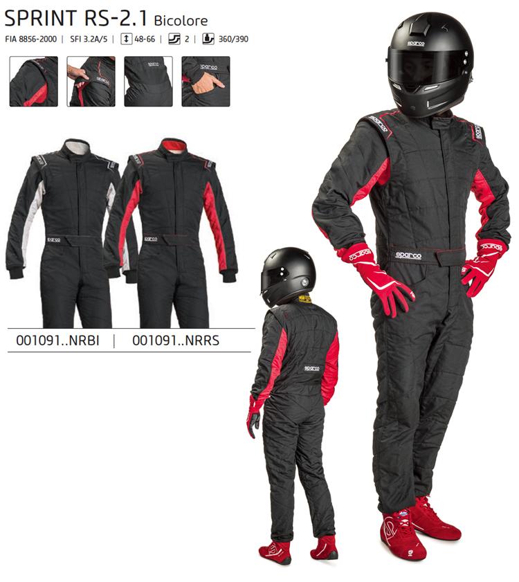 SPARCO スパルコ レーシングスーツ SPRINT RS-2.1 Bicolore (ツートンカラー) FIA公認8856-2000 (001091)