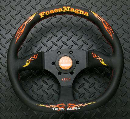 KEY!S Racing フォッサマグナ スーパードレス ステアリング D-シェイプ タイプ (NARDIピッチ)